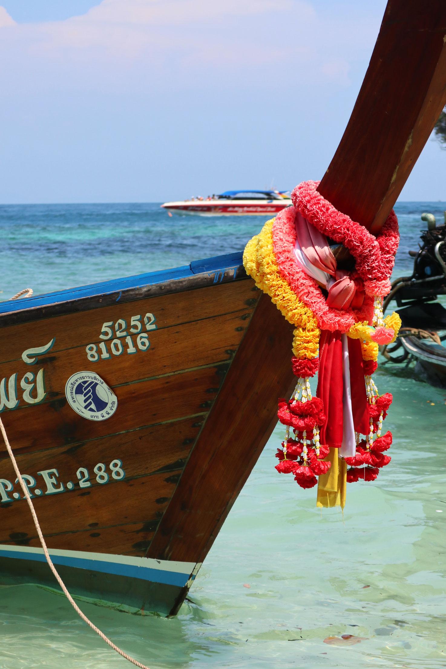 Longtailboat on Koh Phi Phi