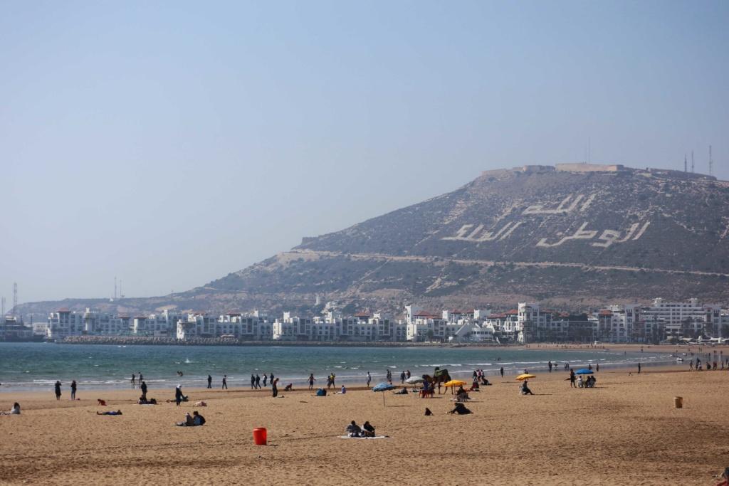 View from the beach in Agadir